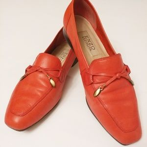 Enzo Angiolini Red Leather Loafer